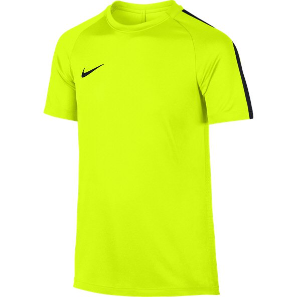 Nike Dry Academy Boys' Football T-Shirt, Volt