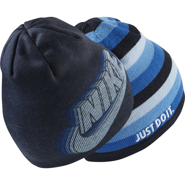 Nike Kids' Reversible Training Beanie, Navy