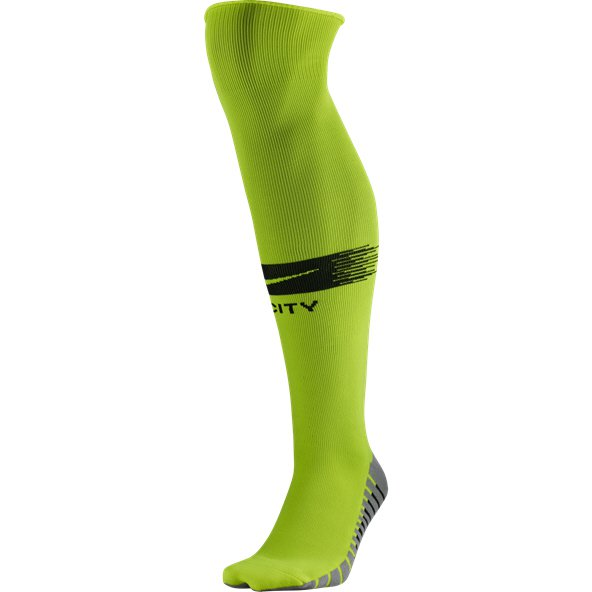 Nike Man City 18 Away Socks Volt