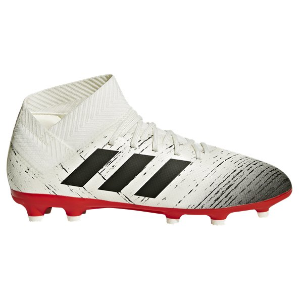 adidas Nemeziz 18.3 FG Kids' Football Boot, White