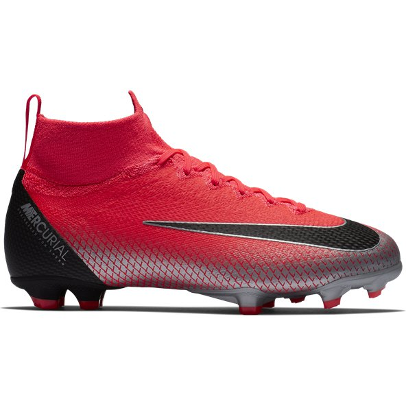 Nike Mercurial Superfly 6 Elite FG CR7 Kids' Football Boot, Red