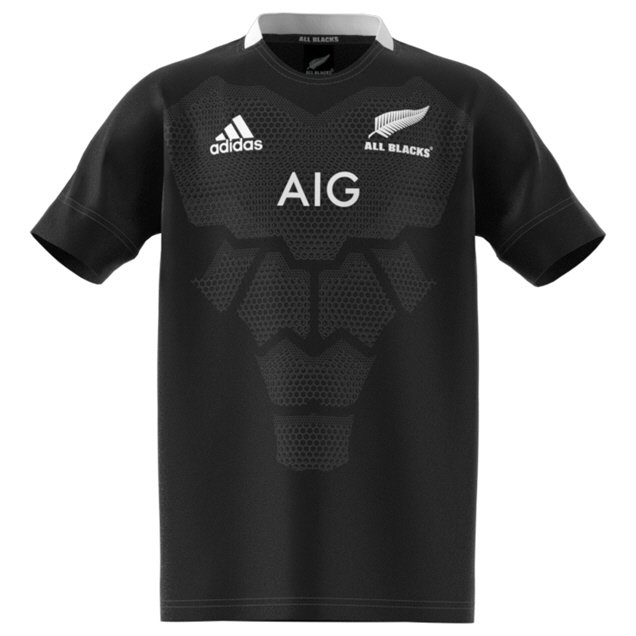 adidas All Blacks 2019 Home Kids' Jersey, Black