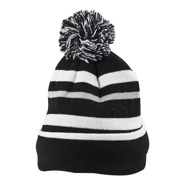 Riptear Stripe Boys Beanie Charcoal/White