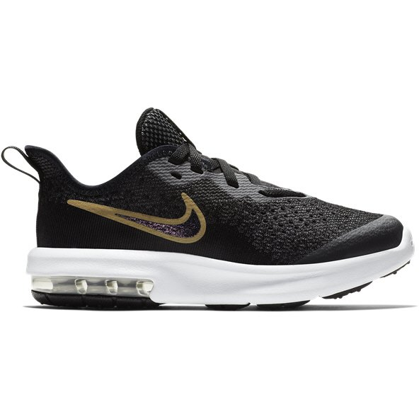 Nike Air Max Sequent 4 Junior Girls' Trainer, Black