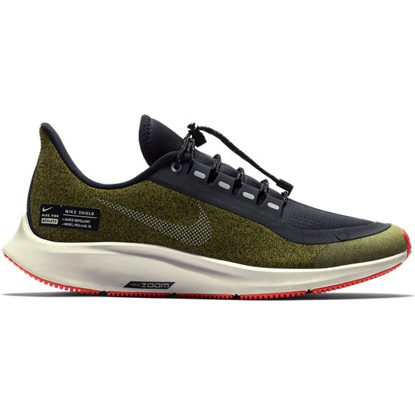 Nike Air Zoom Pegasus 35 Shield Boys' Running Shoe, Green