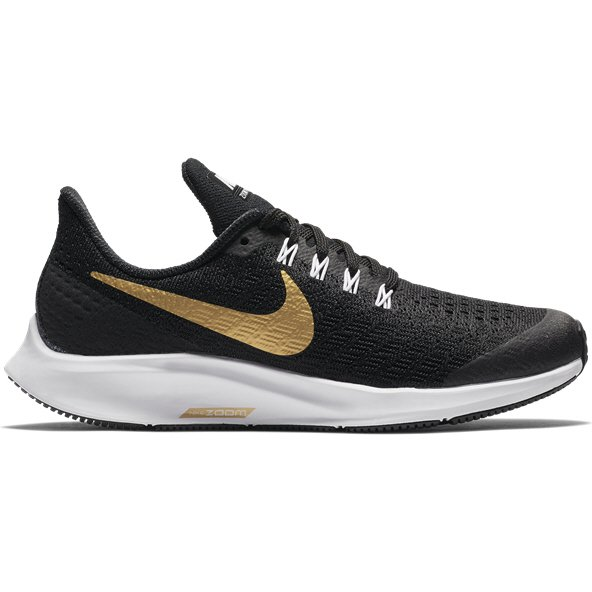 Nike Air Zoom Pegasus 35 Girls' Running Shoe, Black