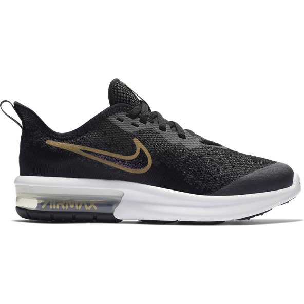 Nike Air Max Sequent 4 Girls' Trainer, Black