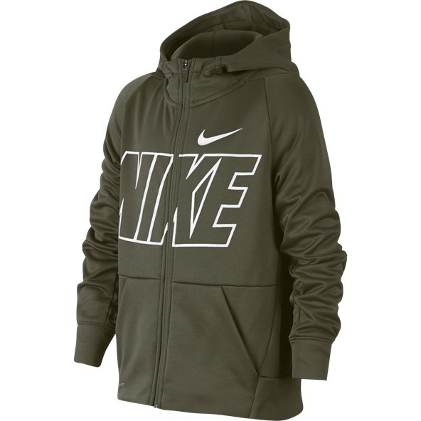 Nike Graphic Therma Boys' Hoody, Green
