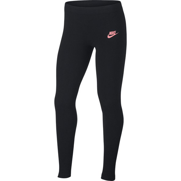 Nike Swoosh Metallic Girls Legging Black