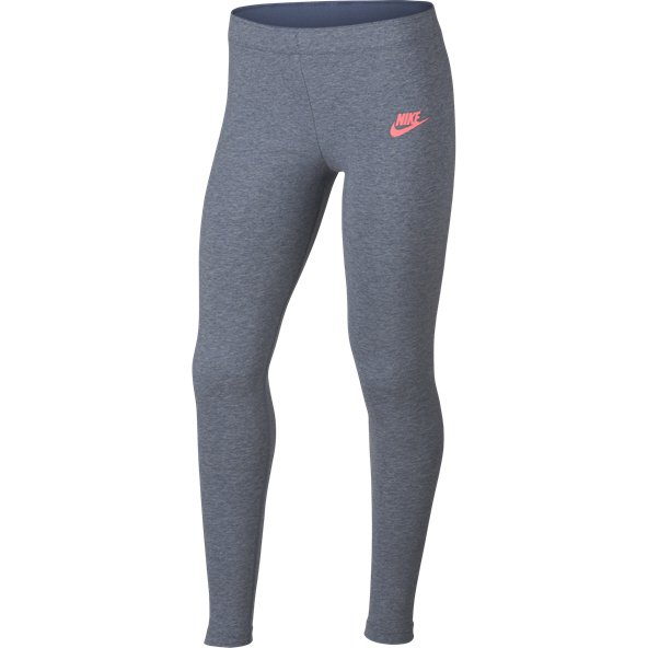 Nike Swoosh Metallic Girls Legging Grey