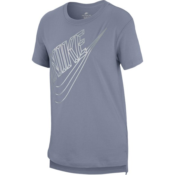 Nike Swoosh Futura Girls' T-Shirt, Grey