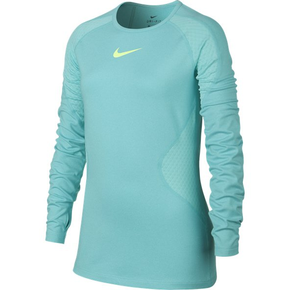 Nike Pro Warm Girls' Long-Sleeve Top, Aqua
