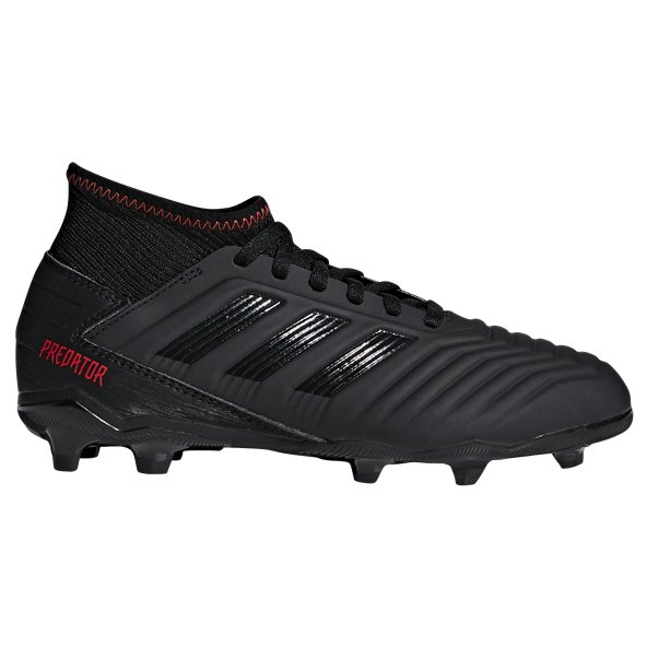 adidas Predator 19.3 FG Kids' Football Boot, Black