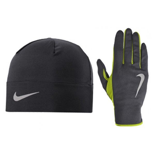 Nike Dri-FIT Men's Run Beanie & Glove Set, Grey
