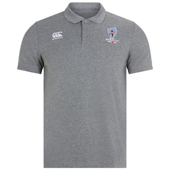 Canterbury RWC 19 Pique Polo, Grey