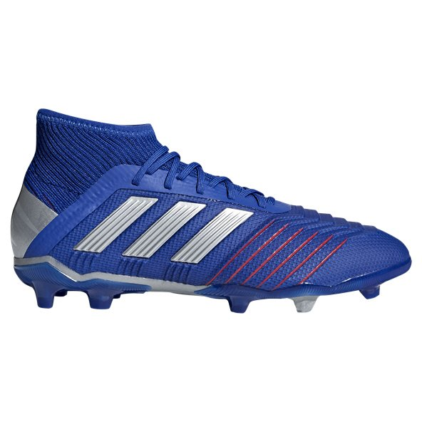 adidas Predator 19.1 FG Kids' Football Boot, Blue