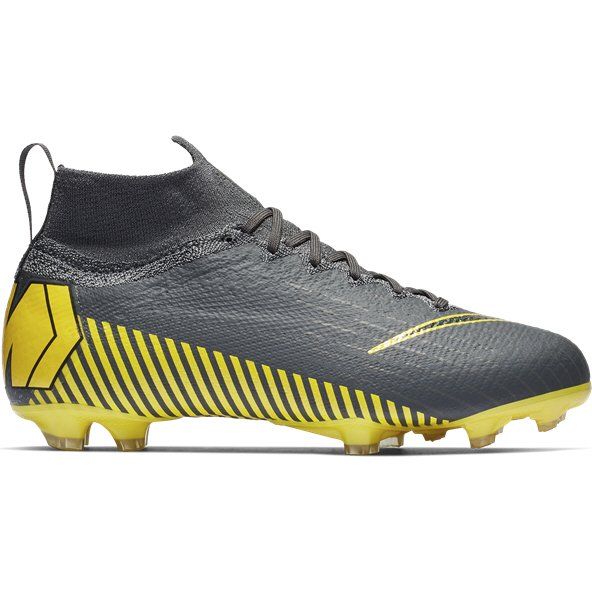 Nike Mercurial Superfly 6 Kids' Elite FG Football Boot, Grey