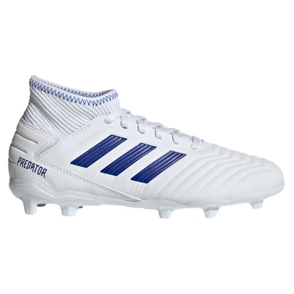 adidas Predator 19.3 FG Kids' Football Boot, White