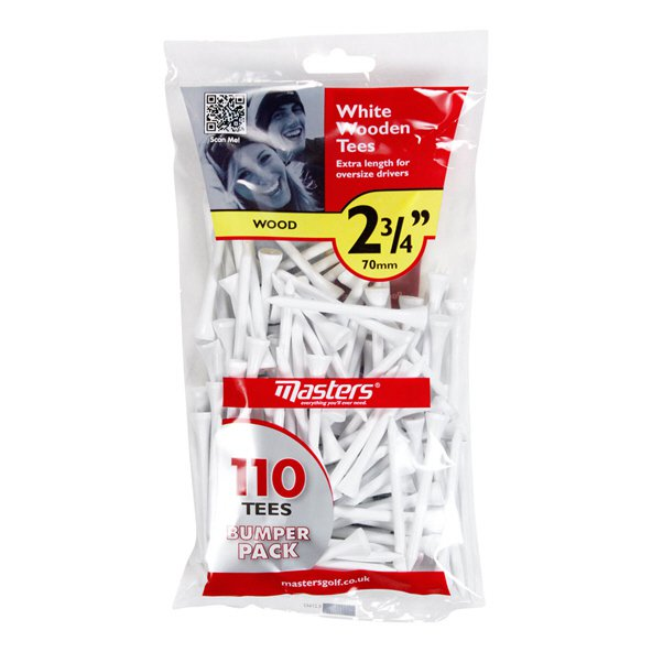 Masters Wood Tees  2 ¾ Bumper bag of 110 White