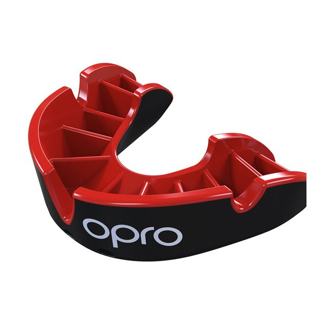 Opro Shield Silver Junior Black/Red