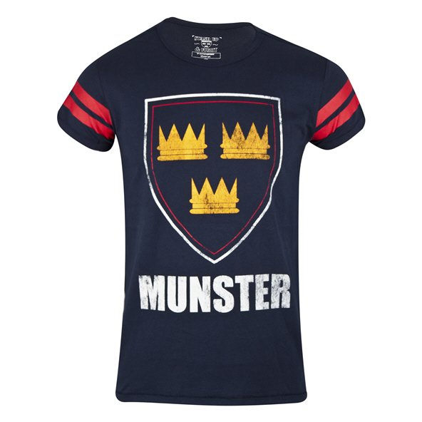 Tradecraft Munster Printed Cotton Rugby T-Shirt, Navy