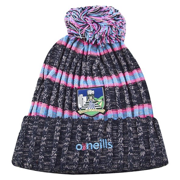 O'Neills Limerick Bobble Hat Pink
