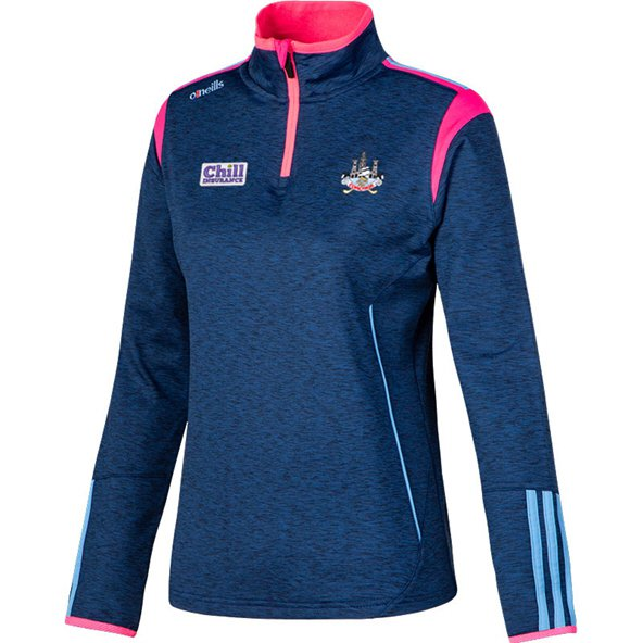 O'Neills Cork Solar Girls' ½ Zip Brushed Top, Navy