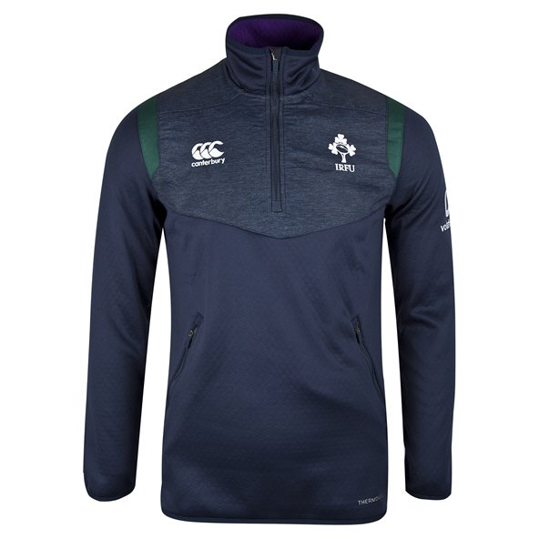Canterbury IRFU 2019 ThermoReg Kids' ¼ Zip Top, Navy