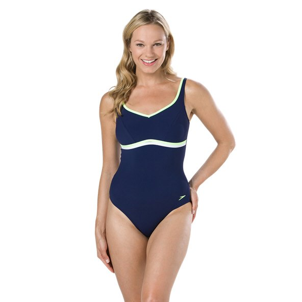Speedo ContourLuxe 1 Piece Swimsuit Navy