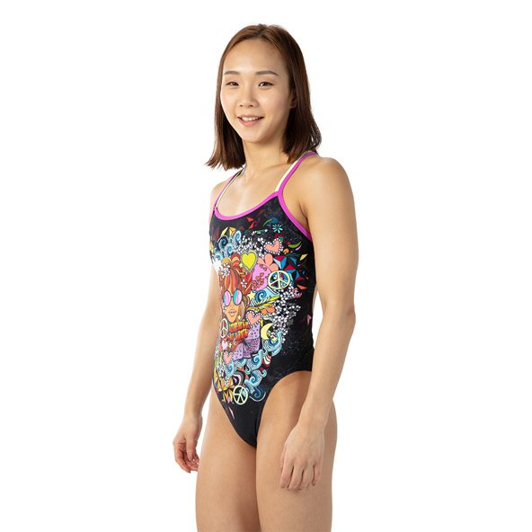 Speedo Hippy Chick Double Crossback Blk