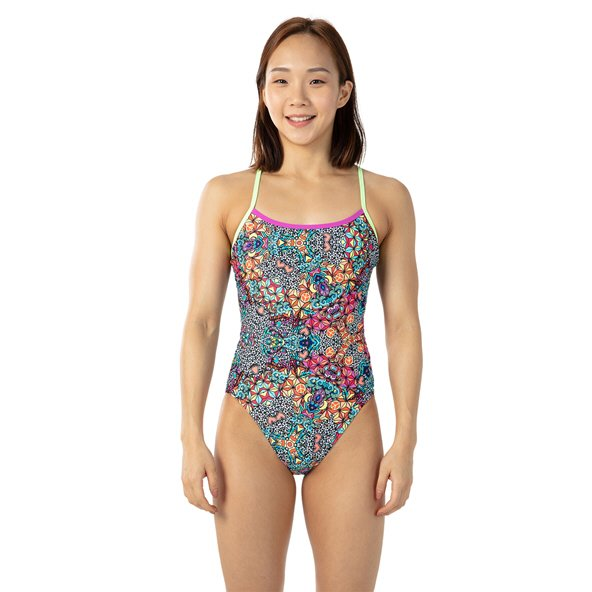 Speedo Psychedelic Dreams One Piece Swimsuit  Black