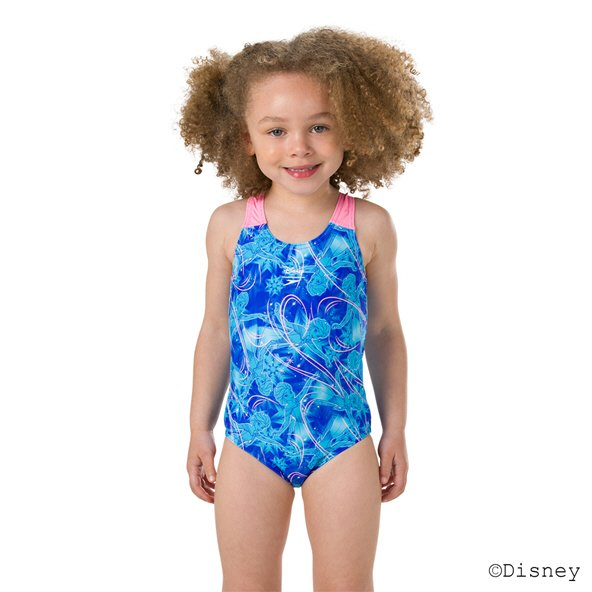 Speedo Frozen Allover 1 Piece Swimsuit Blue/Turquoise