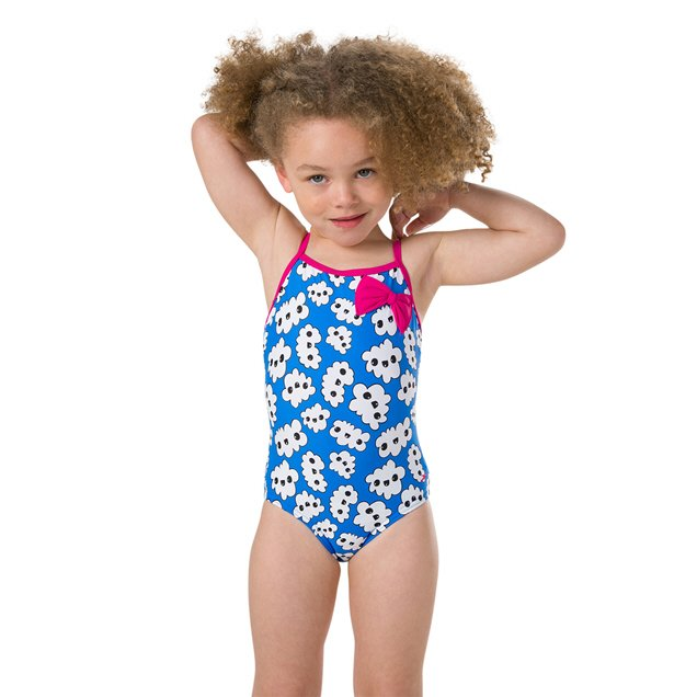 Speedo Bow Suit Pink/Blue