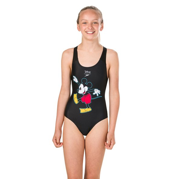 Speedo Disney Mickey Mouse Splashback Girls' Black/Red