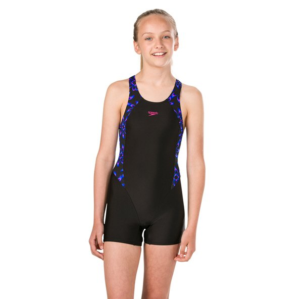Speedo Printed Girls' Legsuit Black/Pink