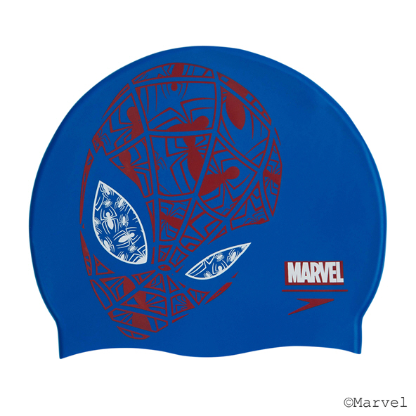 Speedo Spiderman Jnr Slogan Cap Blue/Red