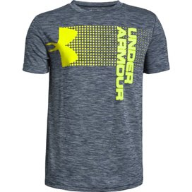 Under Armour® Crossfade Boys Short Sleeve T-Shirt Navy/White
