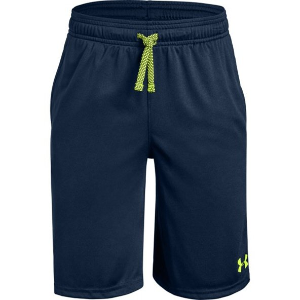 UA Prototype Wordmark Boys Short Nvy/Yel