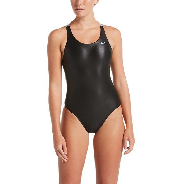 Nike Flash Bonded Fastback One-Piece Women's Swimsuit Black