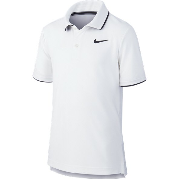 Nike Court Dry Boys' Tennis Polo, White