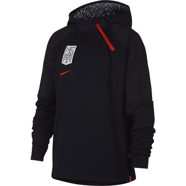 Nike Dry NEYMAR 1/4 Hoody Black/Red