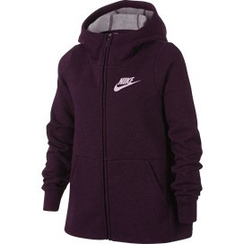 Nike Swoosh Full Zip Girls' Hoody Red/Pink