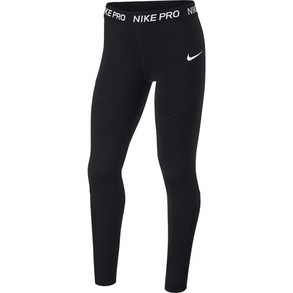 Nike Pro Girls' Tight, Black