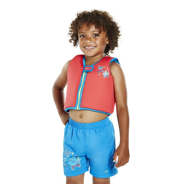 Speedo Sea Squad Boys' Swim Vest, Red