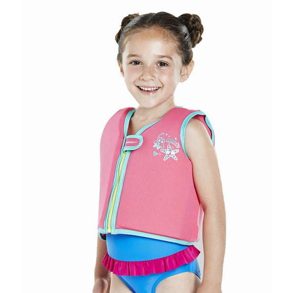 Speedo Sea Squad Girls' Swim Vest, Pink