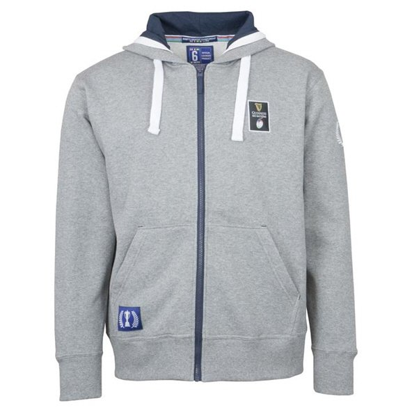 03c2234678b 6 Nations 2019 Full Zip Men s Hoody Grey