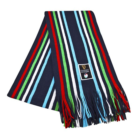 6 Nations 2019 Knit Scarf Navy