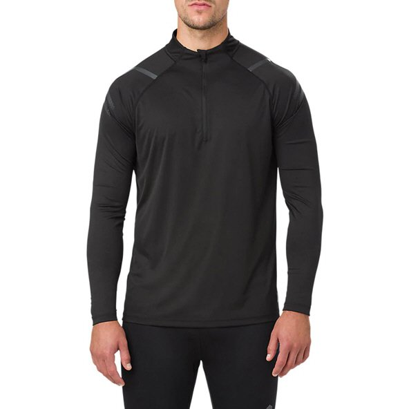 Asics Icon Men's ½ Zip LS Running Top, Black