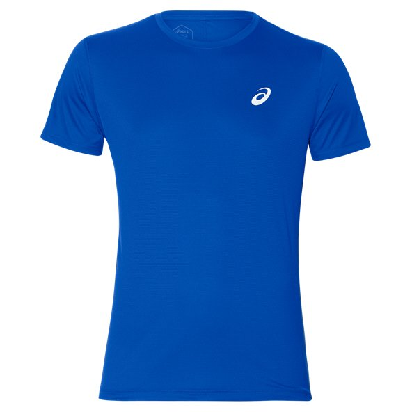 Asics Silver Short Sleeve Men's Running T-Shirt, Blue