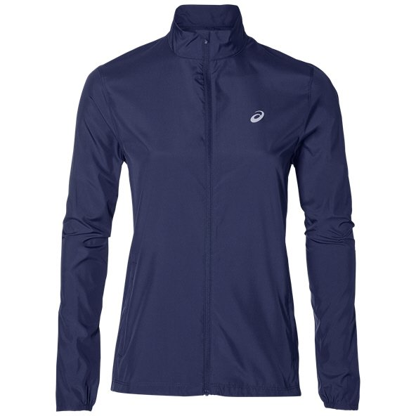 Asics Silver Women's Running Jacket, Indigo Blue